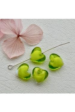 Klaashelmes - Süda, roheline (11x11mm)