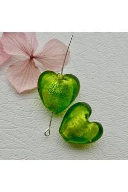 Klaashelmes - Süda, roheline (21x20mm)