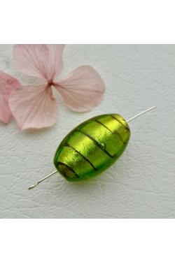 Klaashelmes - Roheline spiraal (28x18mm)