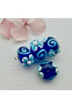 Klaashelmes - Lilleline sinine (19x12mm)