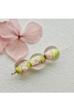 Klaashelmes - Lilled, roheline (11mm)