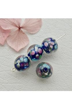 Klaashelmes - Lilled, tumesinine (11mm)