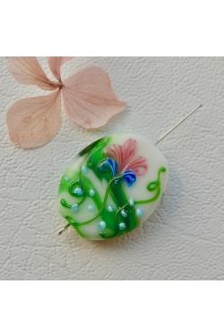 Klaashelmes - Lilleline, roheline (29x23mm)