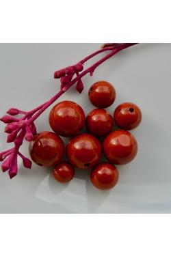 Helmes - Punane jaspis (6-10mm)