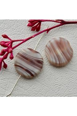 Klaashelmes - Triibuline, violetne (16x15mm)