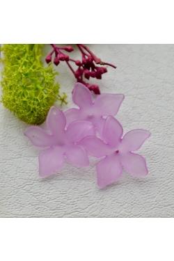 Helmes - Akrüülist lill, violetne (28mm)