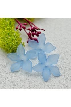 Helmes - Akrüülist lill, sinine (28mm)