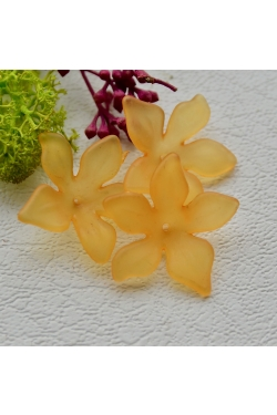 Helmes - Akrüülist lill, oranz (28mm)