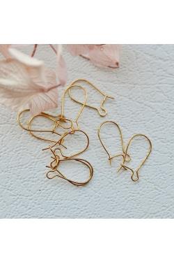 Kõrvarõnga haagid - väikesed kuldsed (13mm)
